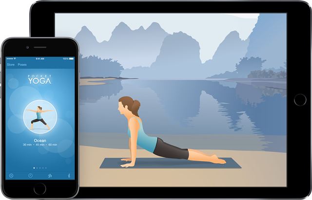 Pocket Yoga iPhone6 and iPad