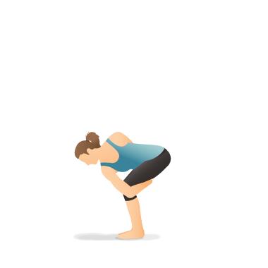 yoga pose revolved bird of paradise preparation