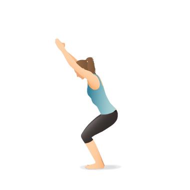 yoga pose chair  pocket yoga