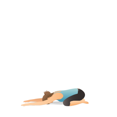 Yoga Pose: Wide Child's (Balāsana)