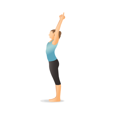 yoga pose crescent moon  pocket yoga