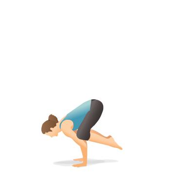 yoga pose crow  pocket yoga