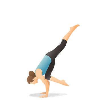 yoga pose one legged crow  pocket yoga