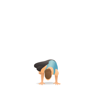 yoga pose side crow  pocket yoga