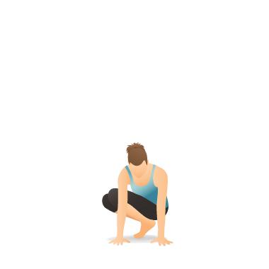 yoga pose side crow preparation  pocket yoga