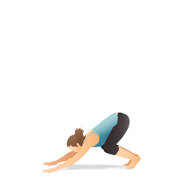 Yoga Pose: Downward-Facing Dog with Bent Knees