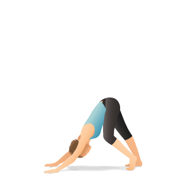 Yoga Pose: Downward-Facing Dog with Hamstring Stretch, Walk the Dog