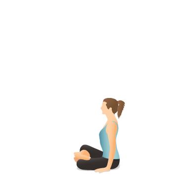 yoga pose fire log  pocket yoga