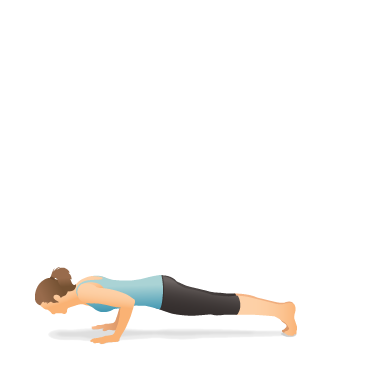 Yoga Pose: Four Limbed Staff (Chaturaṅga Daṇḍāsana)