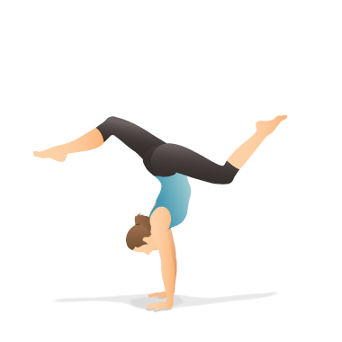 Yoga Pose: Handstand with Splits