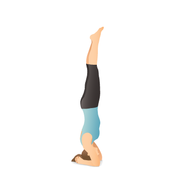 yoga pose supported headstand  pocket yoga