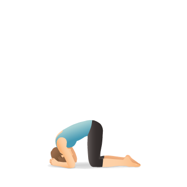 yoga pose supported headstand preparation  pocket yoga