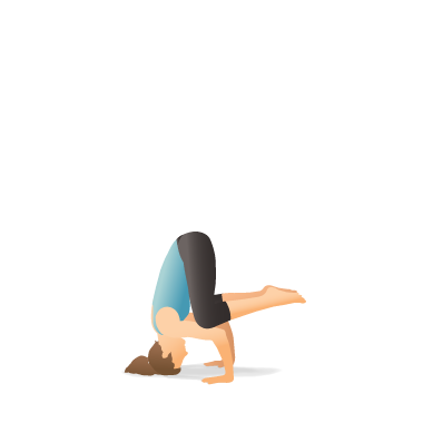 Yoga Pose: Tripod Headstand with Knees on Elbows