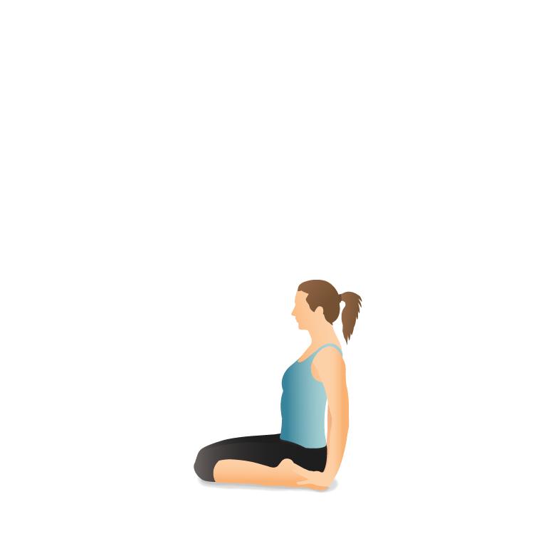 Yoga Pose: Hero (Vīrāsana)