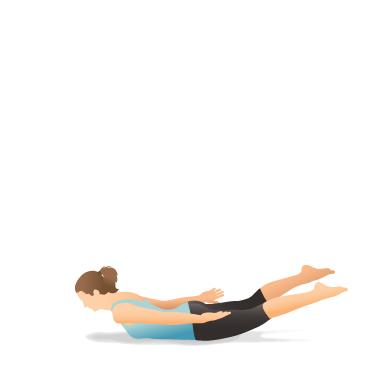 yoga pose locust  pocket yoga