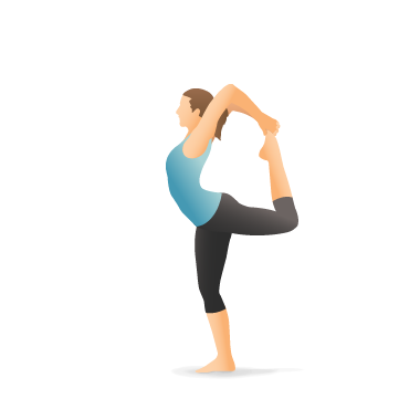 yoga pose full lord of the dance  pocket yoga