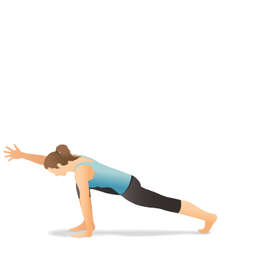 Yoga Pose: Lunge with Arm Extended Forward