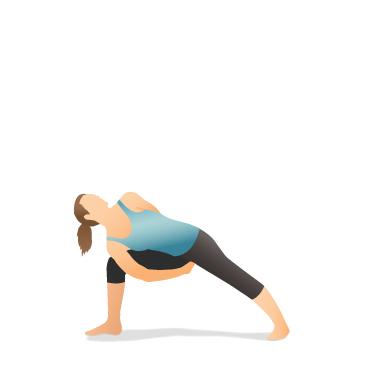 yoga pose bound side angle  pocket yoga