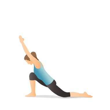 Yoga Pose: Crescent Lunge Forward Bend on the Knee