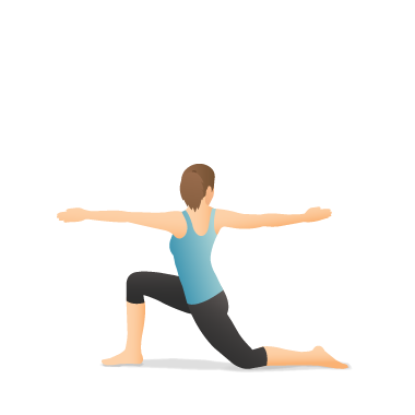 Yoga Pose: Crescent Lunge Twist on the Knee
