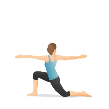 yoga pose crescent lunge twist on the knee  pocket yoga