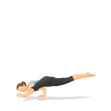 Yoga Pose: Flying Man (Eka Pāda Kouṇḍinyāsana)