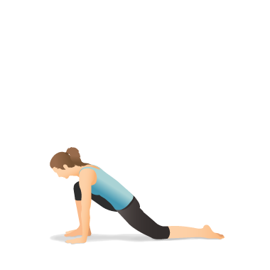 yoga pose lunge on the knee  pocket yoga