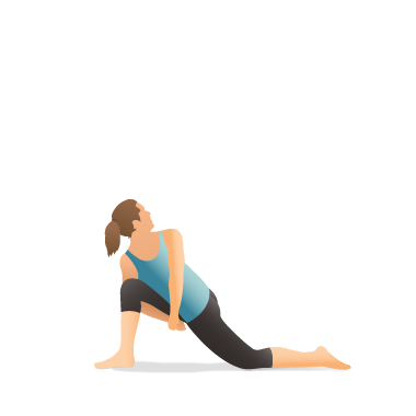 Yoga Pose: Bound Revolved Crescent Lunge on the Knee (Parivṛtta Baddha Aṅjaneyāsana)