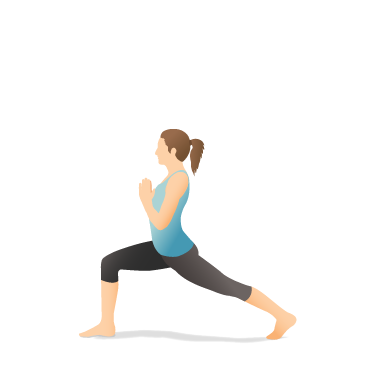Yoga Pose: Crescent Lunge with Prayer Hands