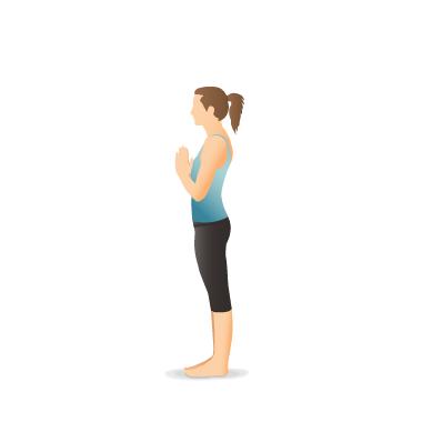 yoga pose mountain  pocket yoga