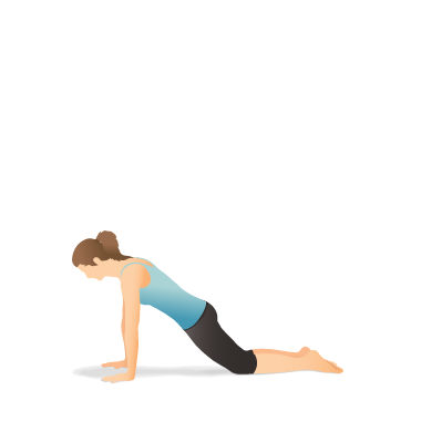 Yoga Pose: Plank on the Knees