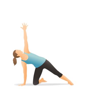 yoga pose side plank on the knee  pocket yoga