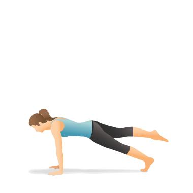 yoga pose one legged plank  pocket yoga