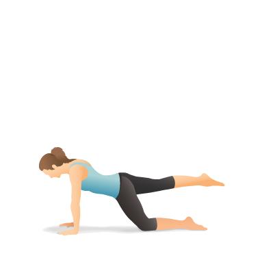 yoga pose one legged plank on the knee  pocket yoga