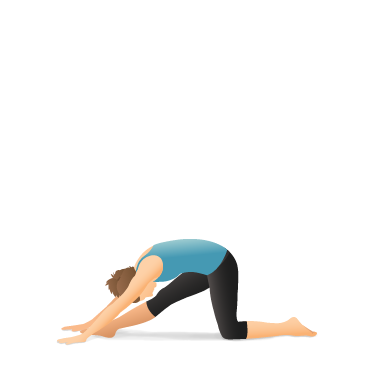Yoga Pose: Pyramid on the Knee