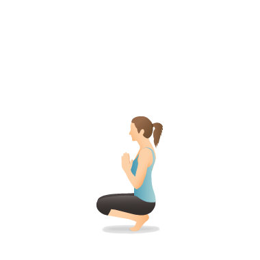 Yoga Pose: Squatting Toe Balance