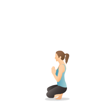 Yoga Pose: Squatting Toe Balance with Opened Knees