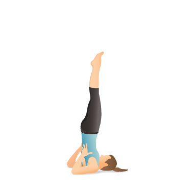 Yoga Pose: Supported Shoulder Stand (Sālamba Sarvāṅgāsana)