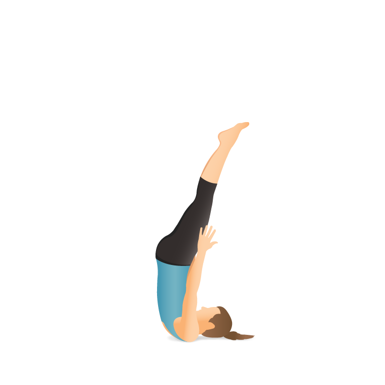 Yoga Pose Unsupported Shoulder Stand