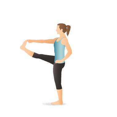 yoga pose standing hand to toe  pocket yoga