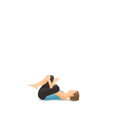 Yoga Pose: Supine Pigeon, Eye of the Needle, Dead Pigeon (Supta Kapotāsana)