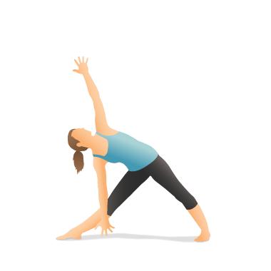 yoga pose triangle  pocket yoga