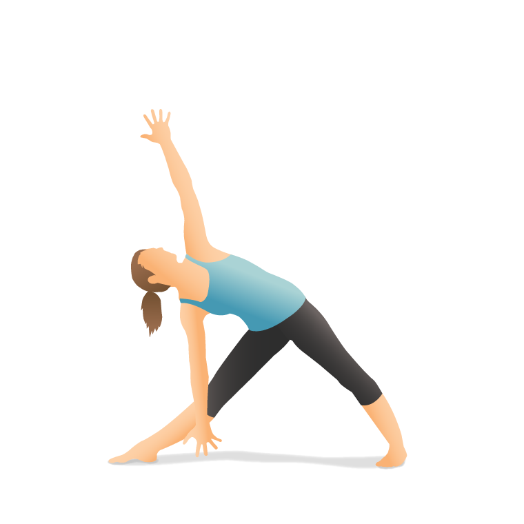 Yoga Pose: Triangle (Trikoṇāsana)