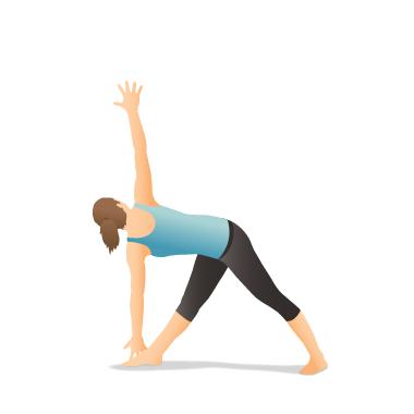 yoga pose revolved triangle  pocket yoga