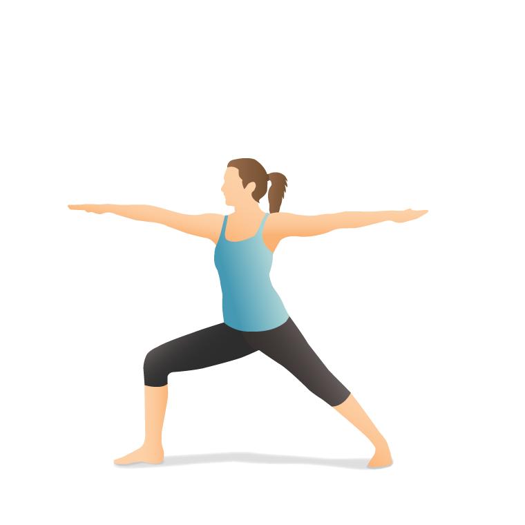 Yoga Pose: Warrior II (Vīrabhadrāsana II)