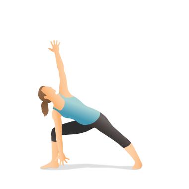 yoga pose warrior ii forward bend  pocket yoga