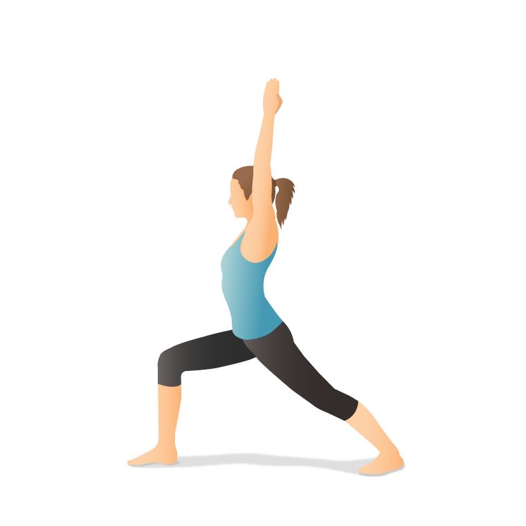 Yoga Pose: Warrior I (Vīrabhadrāsana I)