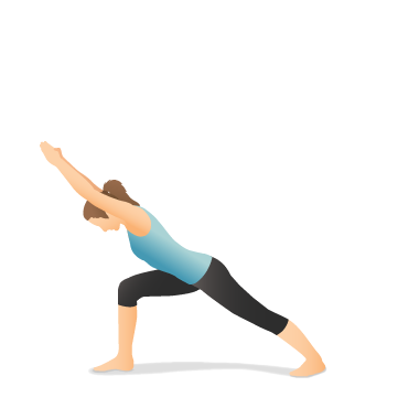 Yoga Pose: Warrior I Forward Bend