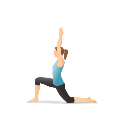 Yoga Pose: Crescent Lunge on the Knee (Aṅjaneyāsana)