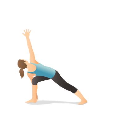 yoga pose revolved side angle  pocket yoga
